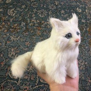 Vintage Accessories - Real Rabbit fur Cat figure